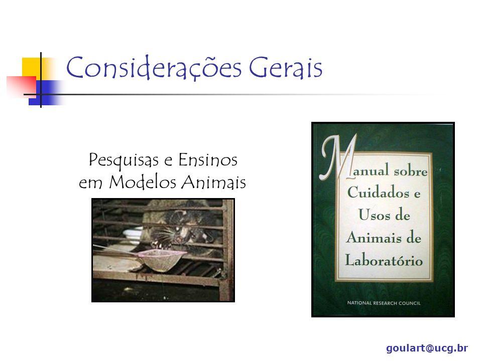 Pesquisas e Ensinos em Modelos Animais