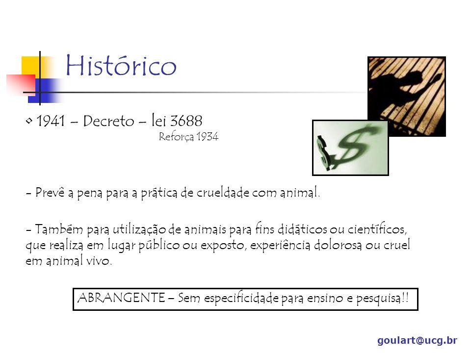 Histórico 1941 – Decreto – lei 3688