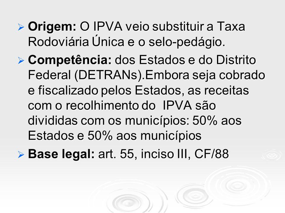 Origem: O IPVA veio substituir a Taxa Rodoviária Única e o selo-pedágio.