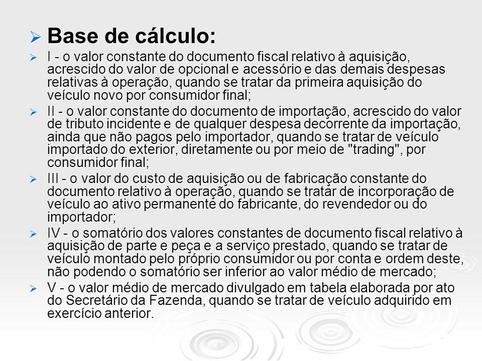 Base de cálculo: