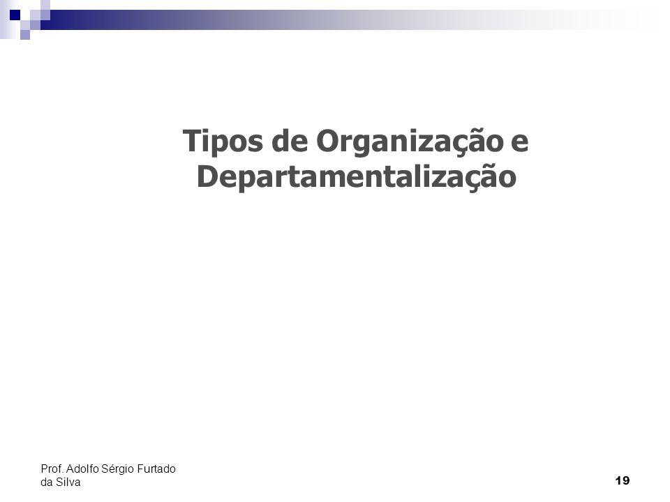 Tipos de Organização e Departamentalização