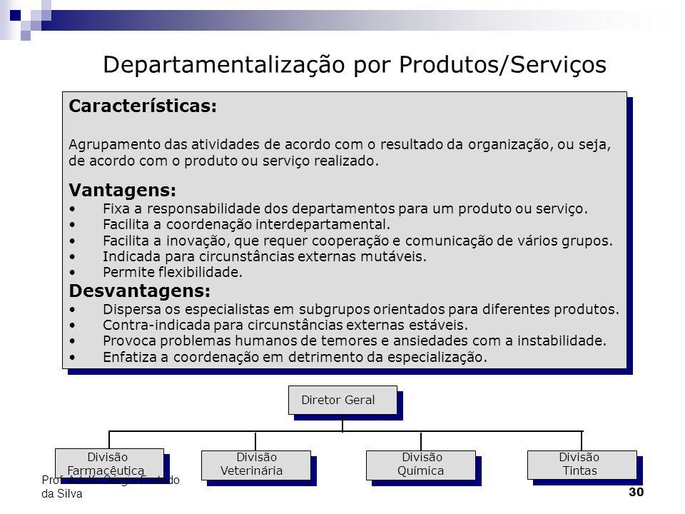 Departamentalização por Produtos/Serviços