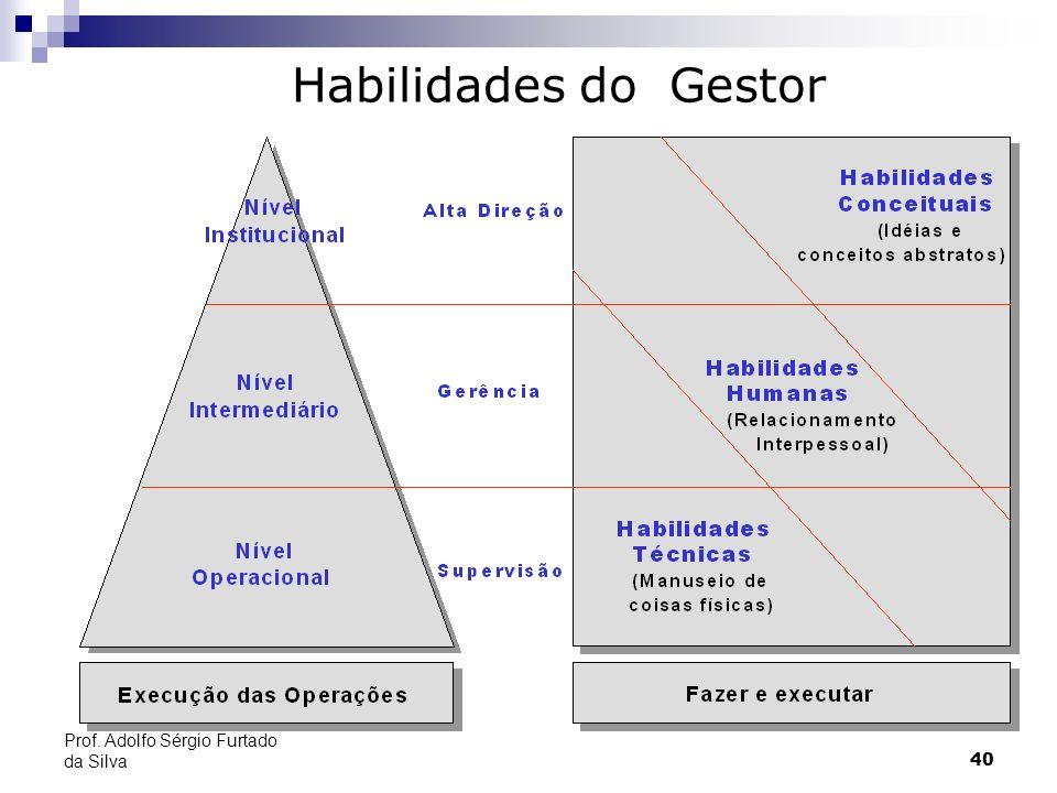 Habilidades do Gestor Prof. Adolfo Sérgio Furtado da Silva