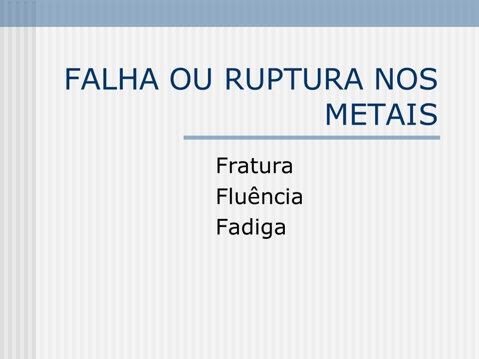 FALHA OU RUPTURA NOS METAIS