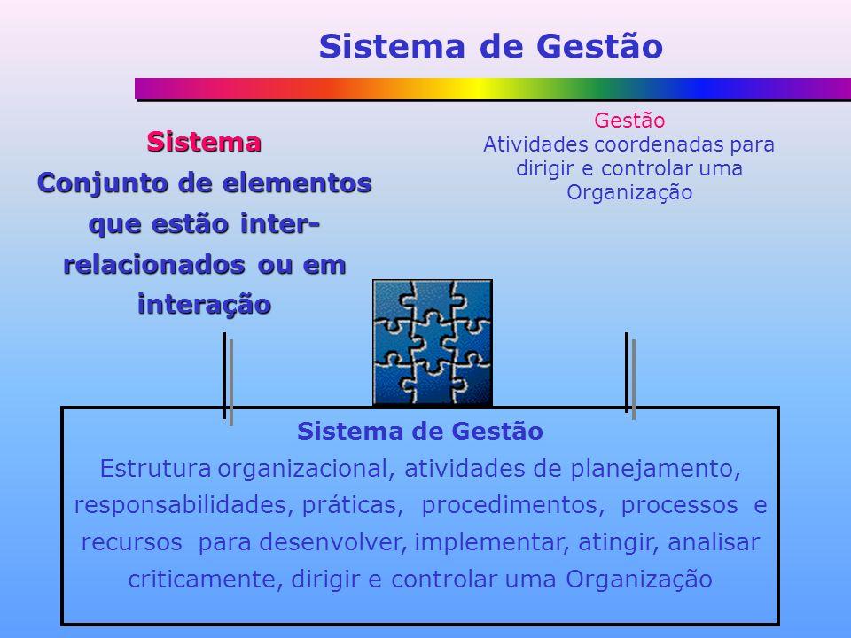 Conjunto de elementos que estão inter-relacionados ou em interação