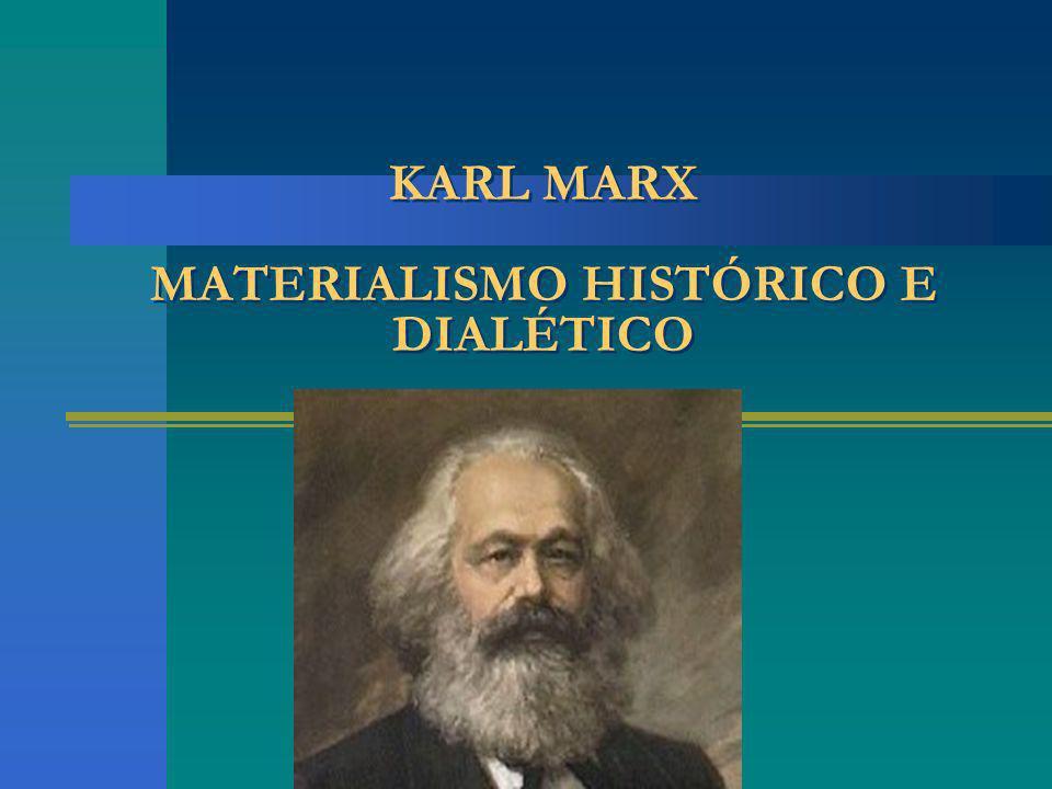 KARL MARX MATERIALISMO HISTÓRICO E DIALÉTICO