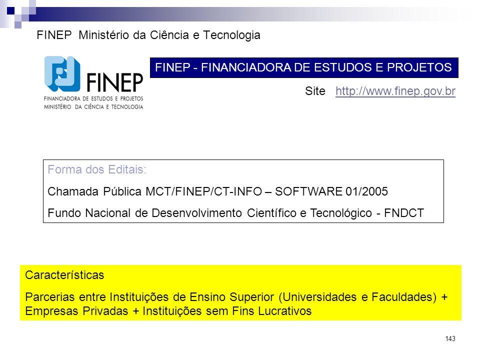 FINEP Ministério da Ciência e Tecnologia