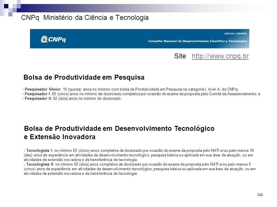 CNPq Ministério da Ciência e Tecnologia