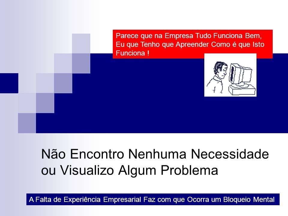 Não Encontro Nenhuma Necessidade ou Visualizo Algum Problema