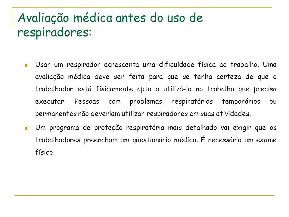 Avaliação médica antes do uso de respiradores: