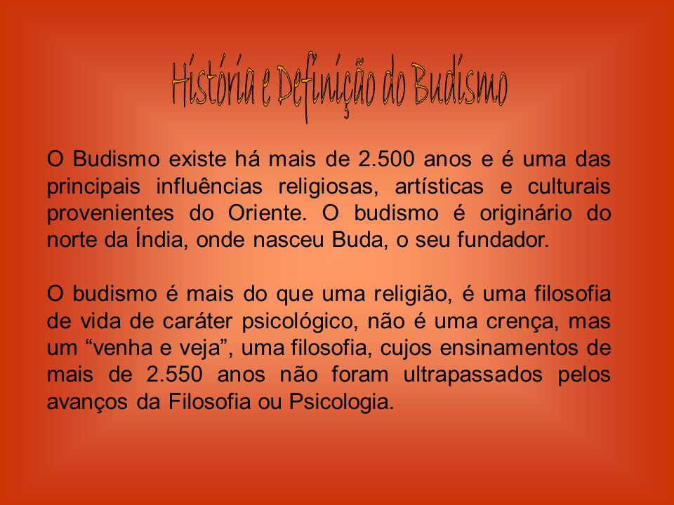 História e Definição do Budismo