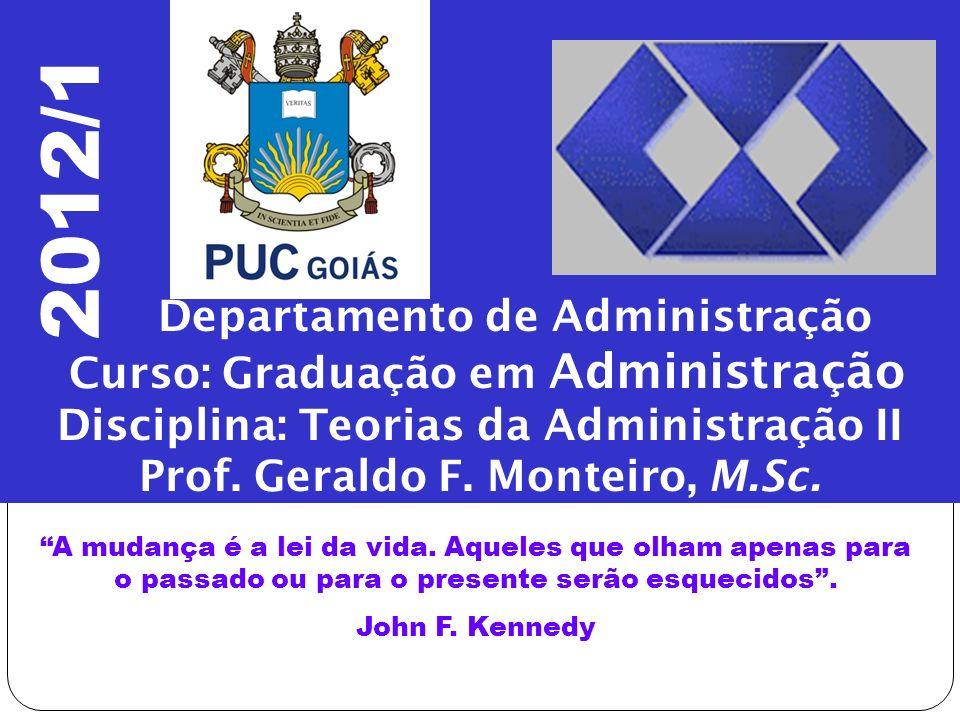 2012/1 Departamento de Administração Curso: Graduação em Administração
