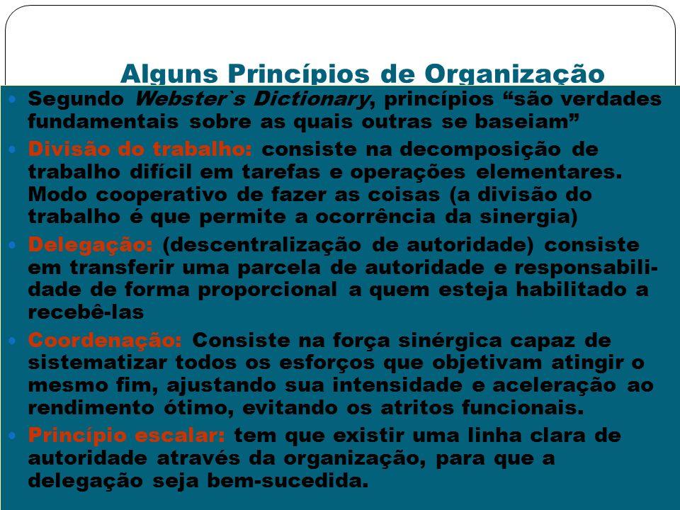 Alguns Princípios de Organização