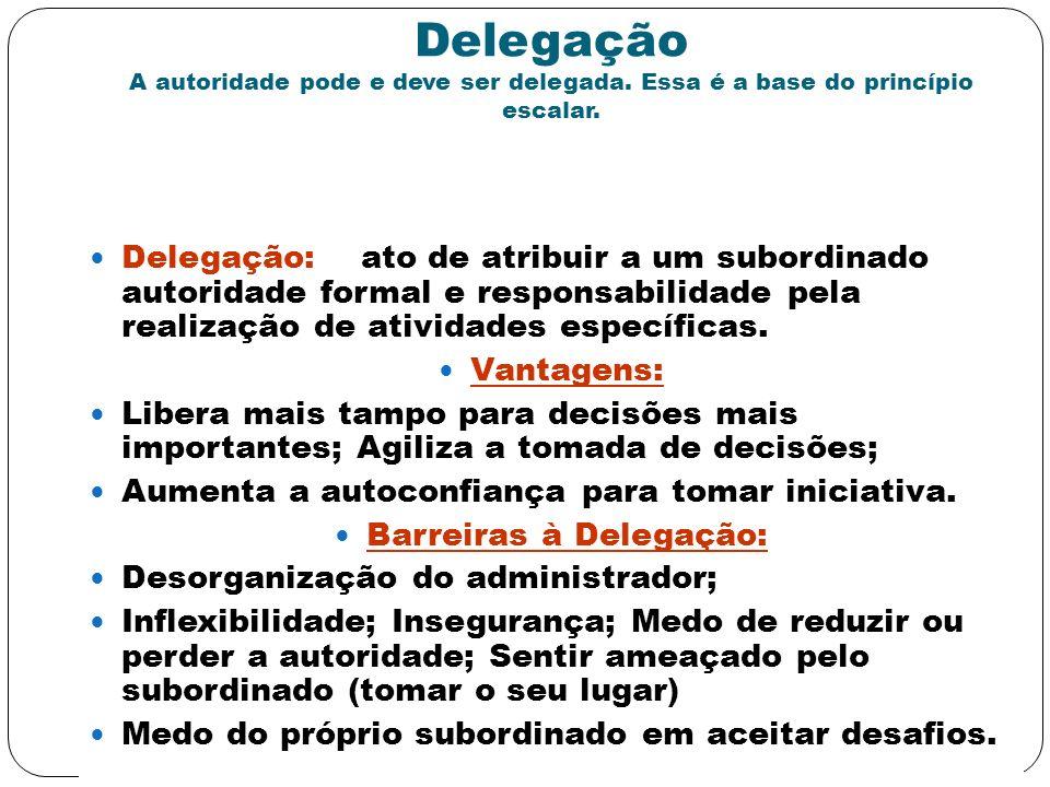 Barreiras à Delegação: