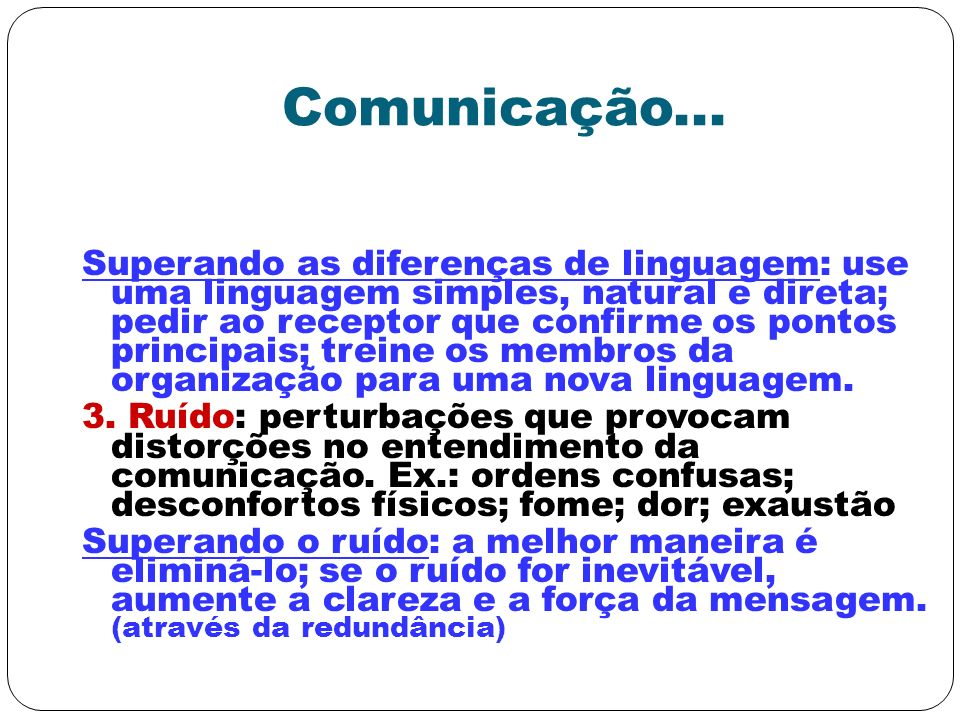 Comunicação...