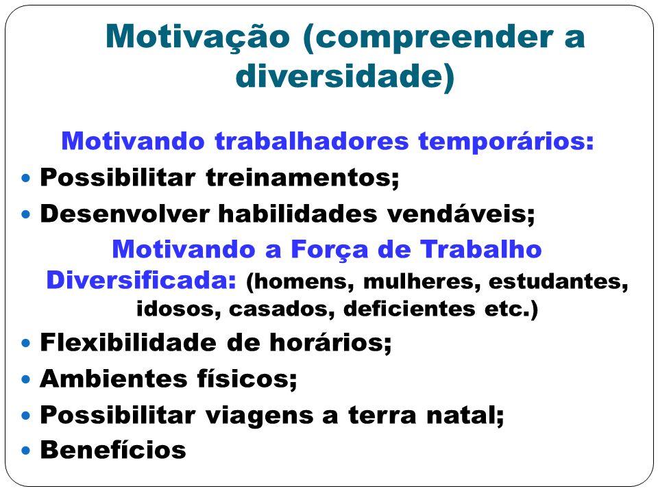 Motivação (compreender a diversidade)