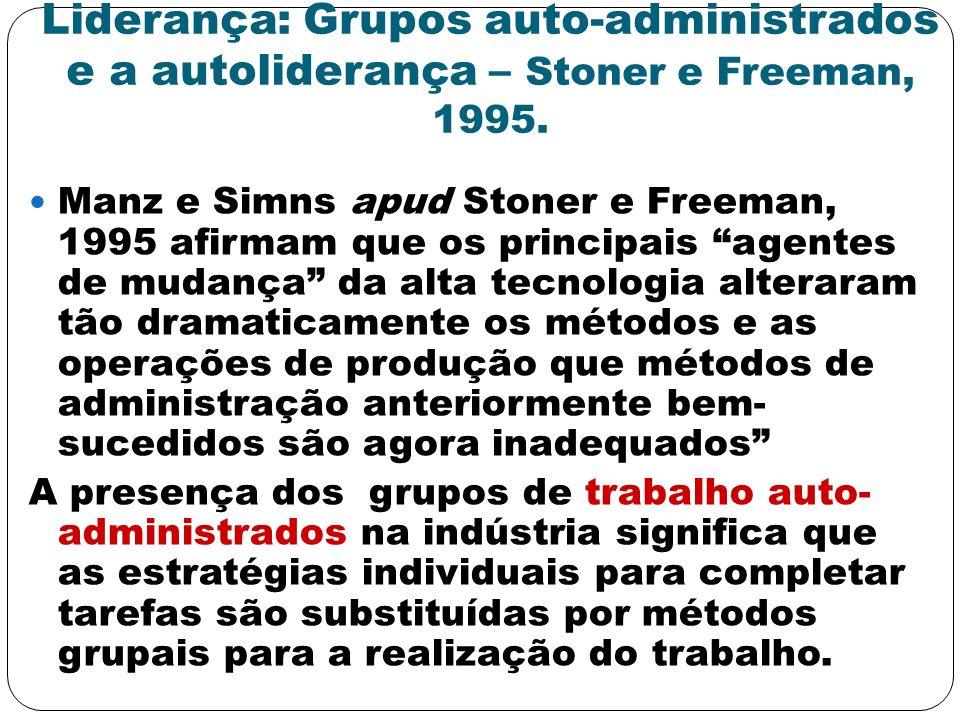 Liderança: Grupos auto-administrados e a autoliderança – Stoner e Freeman, 1995.