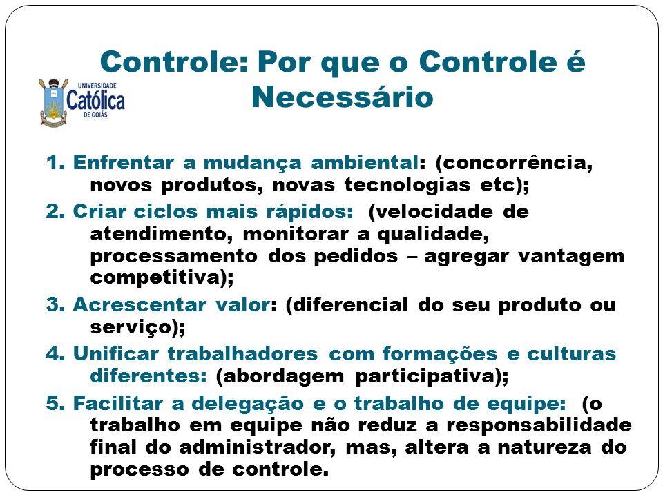 Controle: Por que o Controle é Necessário