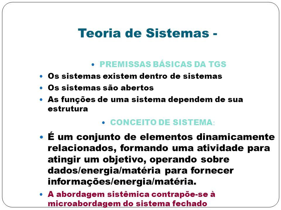 PREMISSAS BÁSICAS DA TGS