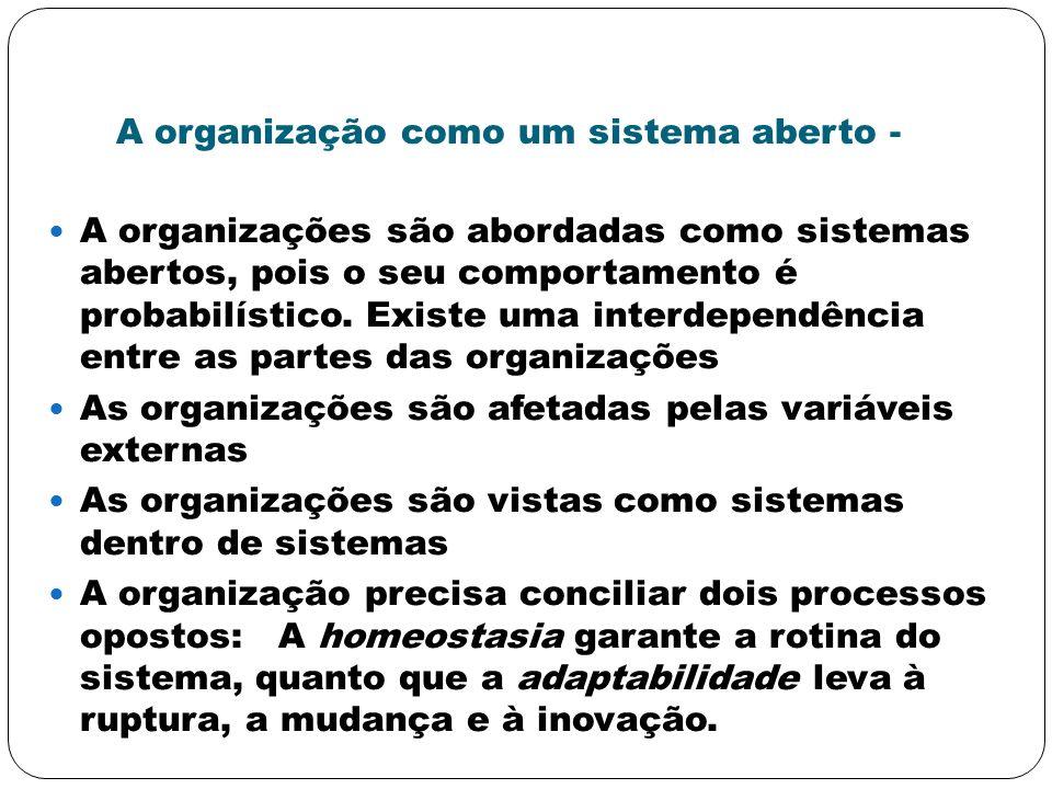 A organização como um sistema aberto -