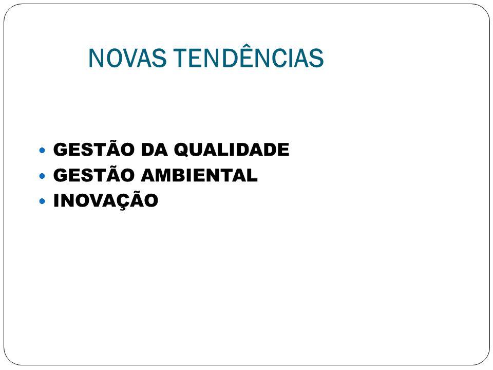 NOVAS TENDÊNCIAS GESTÃO DA QUALIDADE GESTÃO AMBIENTAL INOVAÇÃO