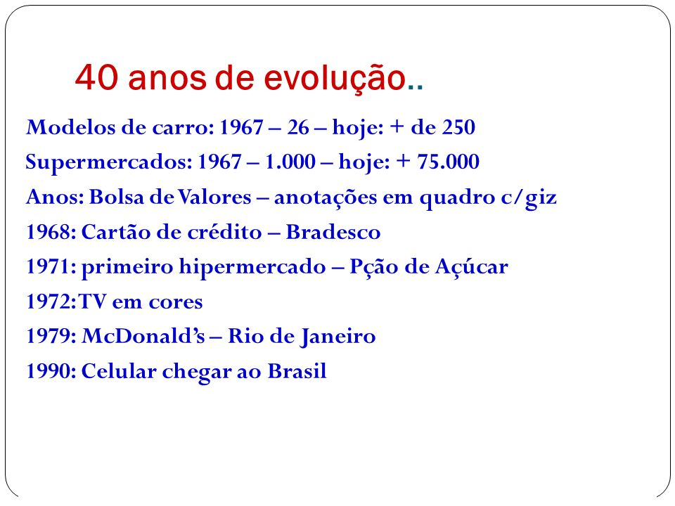 40 anos de evolução..