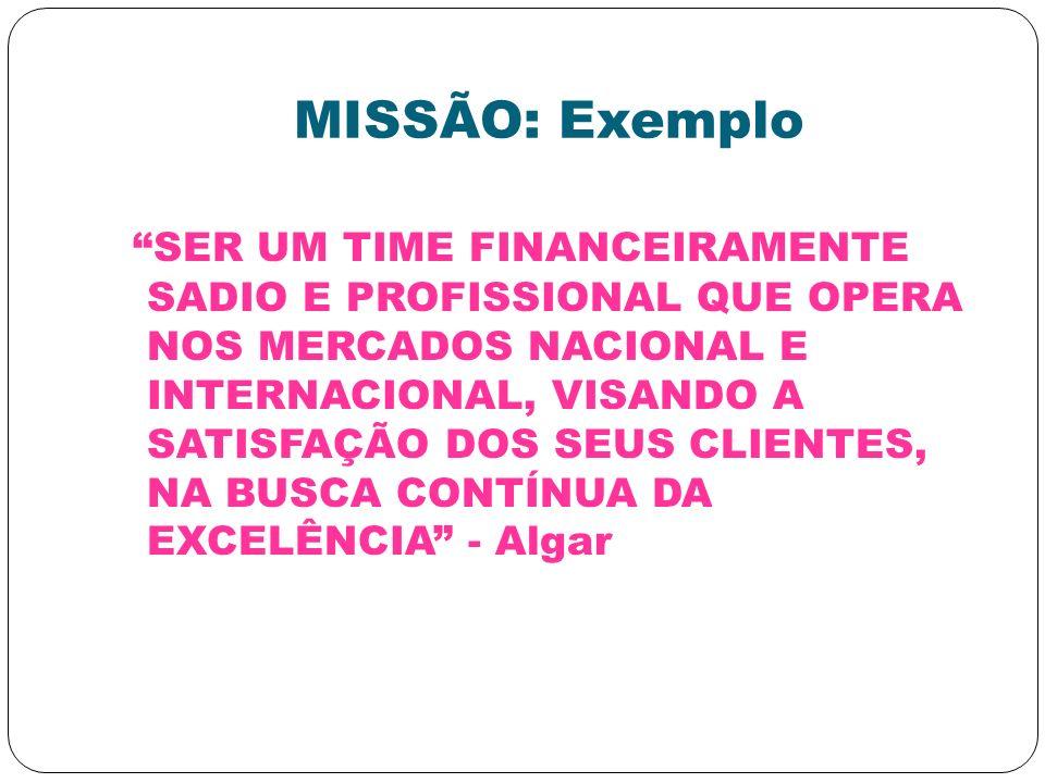 MISSÃO: Exemplo