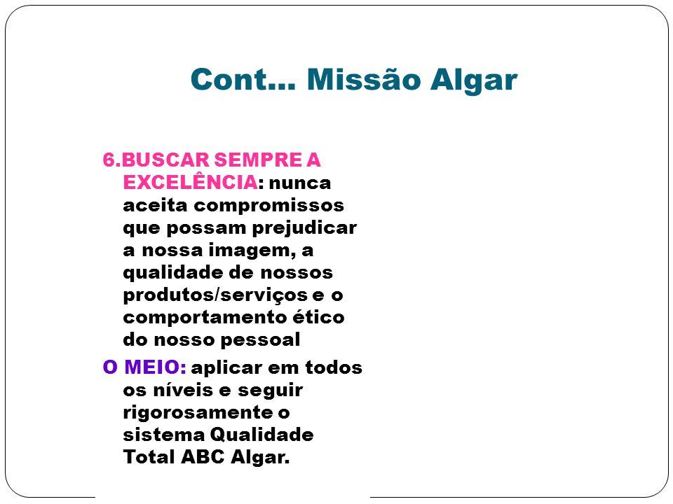 Cont... Missão Algar