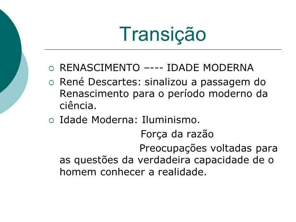 Transição RENASCIMENTO –--- IDADE MODERNA
