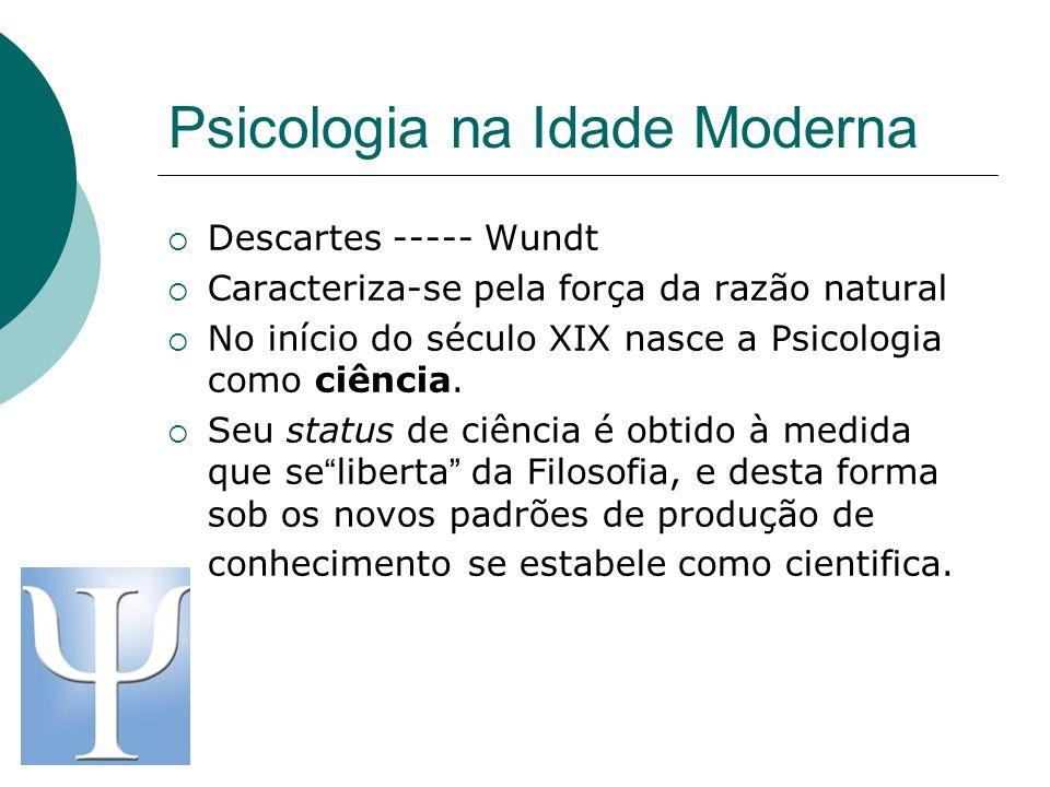 Psicologia na Idade Moderna