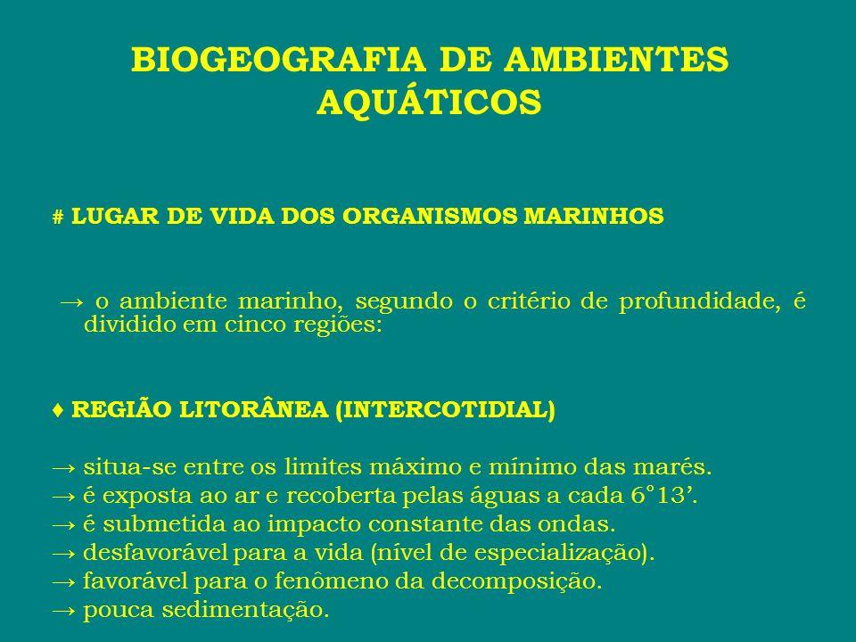 BIOGEOGRAFIA DE AMBIENTES AQUÁTICOS