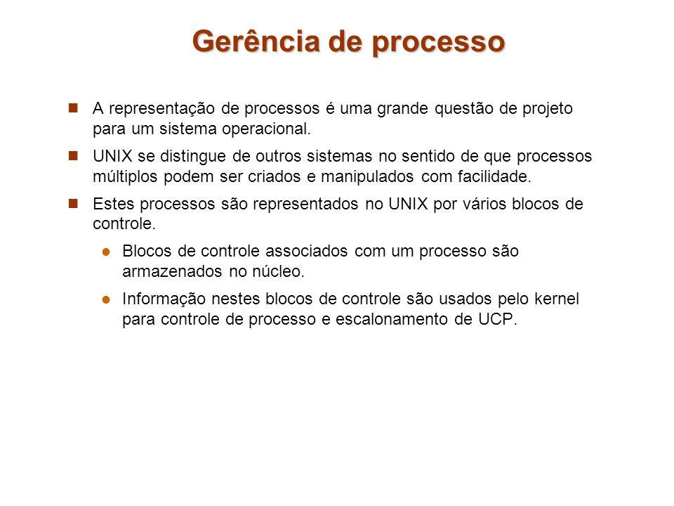 Gerência de processo A representação de processos é uma grande questão de projeto para um sistema operacional.
