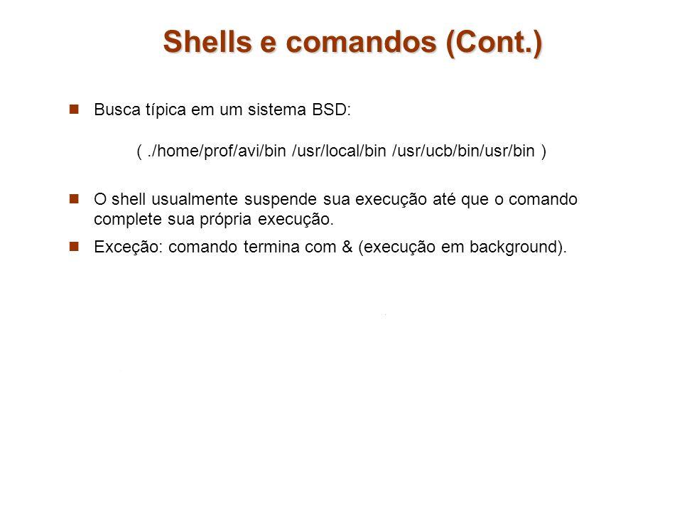 Shells e comandos (Cont.)