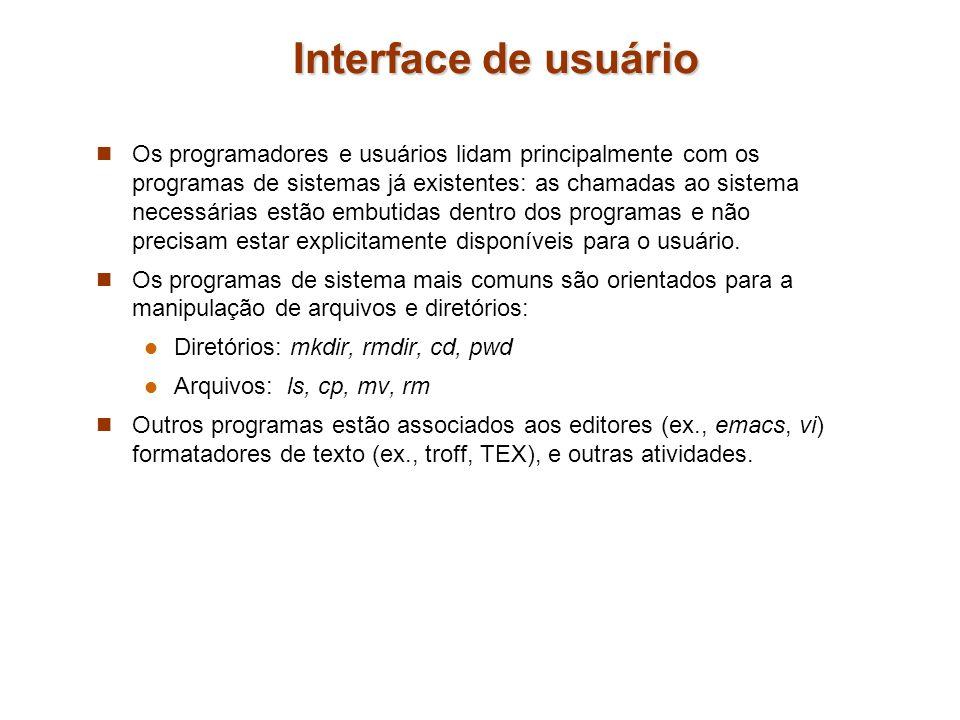 Interface de usuário