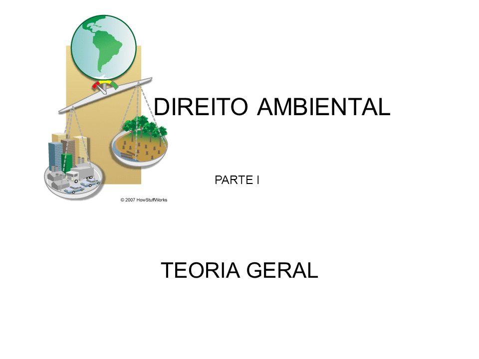 DIREITO AMBIENTAL PARTE I TEORIA GERAL