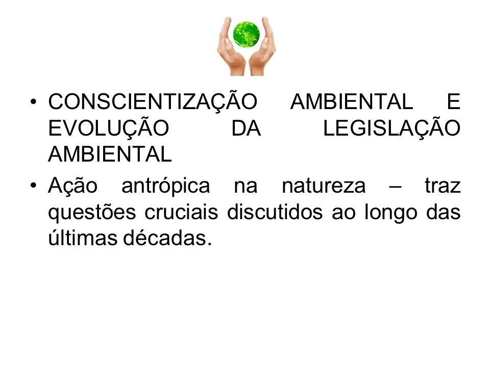 CONSCIENTIZAÇÃO AMBIENTAL E EVOLUÇÃO DA LEGISLAÇÃO AMBIENTAL