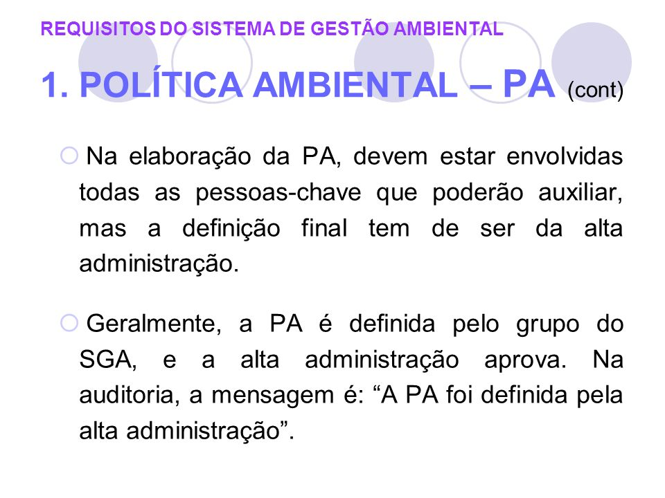 REQUISITOS DO SISTEMA DE GESTÃO AMBIENTAL 1