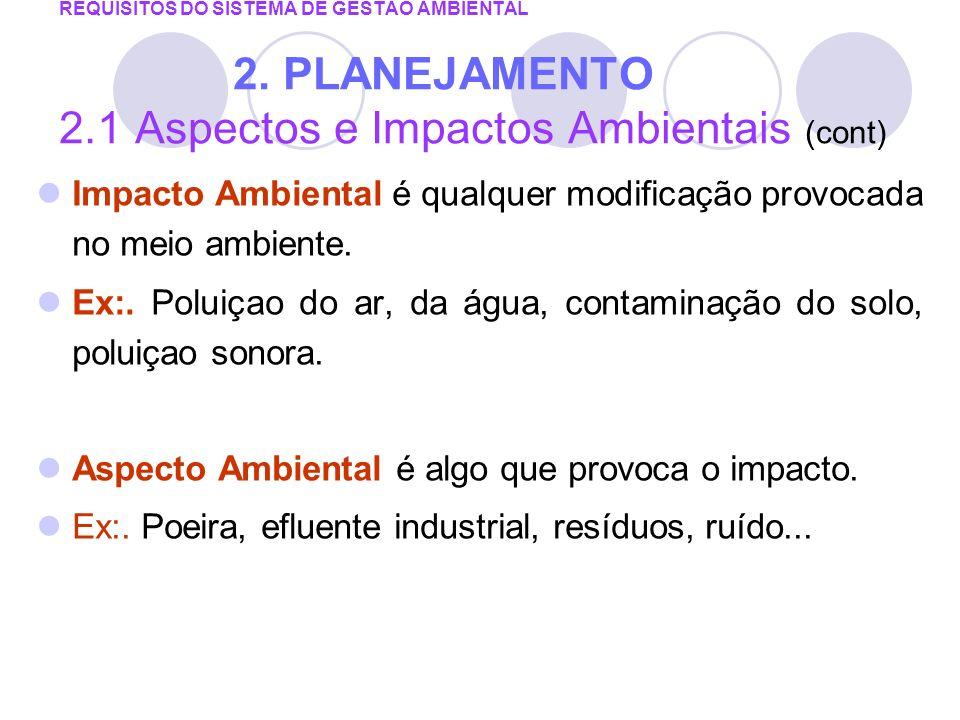 Impacto Ambiental é qualquer modificação provocada no meio ambiente.