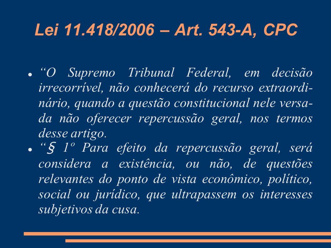 Lei 11.418/2006 – Art. 543-A, CPC