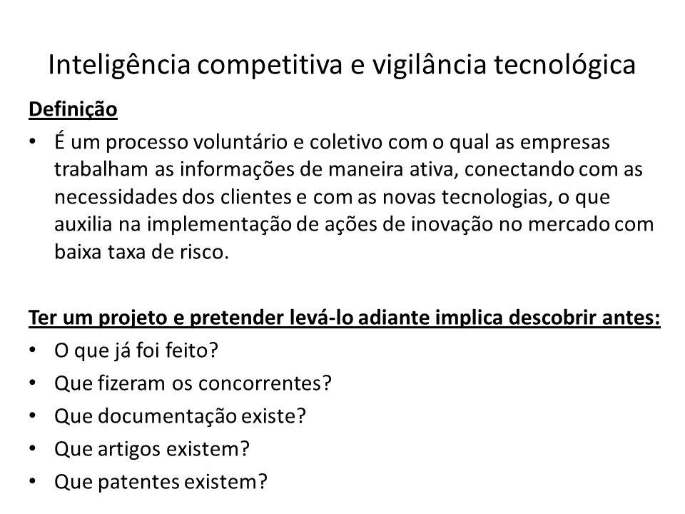 Inteligência competitiva e vigilância tecnológica
