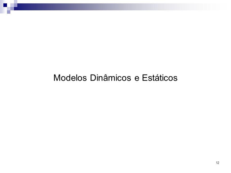 Modelos Dinâmicos e Estáticos