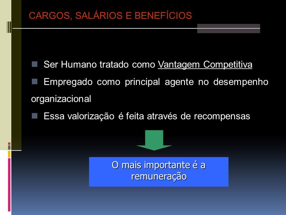 O mais importante é a remuneração