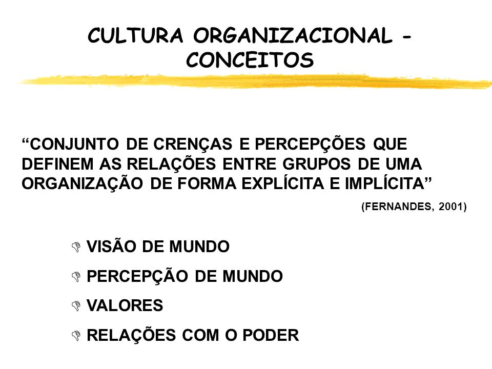 CULTURA ORGANIZACIONAL - CONCEITOS
