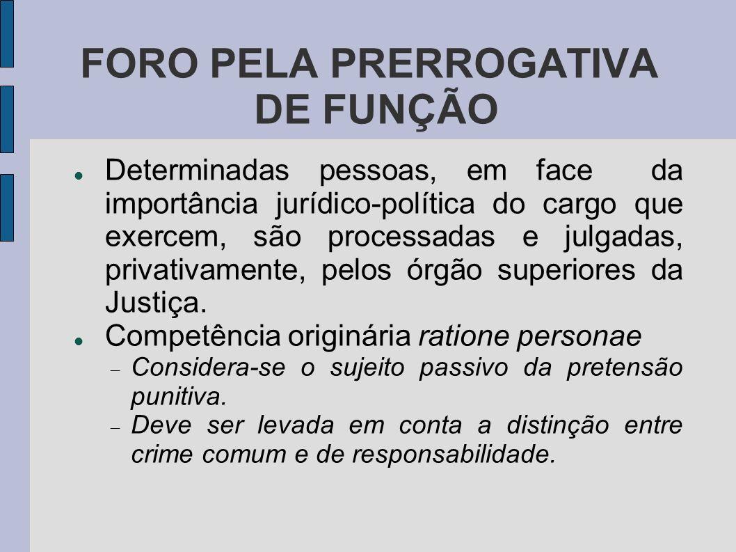 FORO PELA PRERROGATIVA DE FUNÇÃO