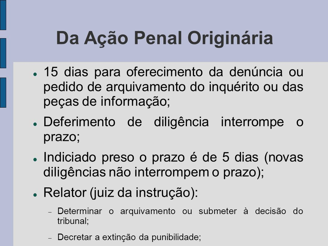 Da Ação Penal Originária