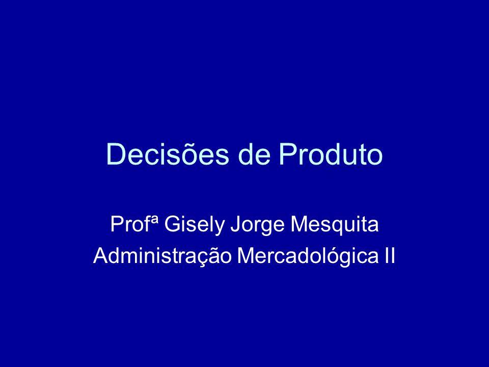 Profª Gisely Jorge Mesquita Administração Mercadológica II