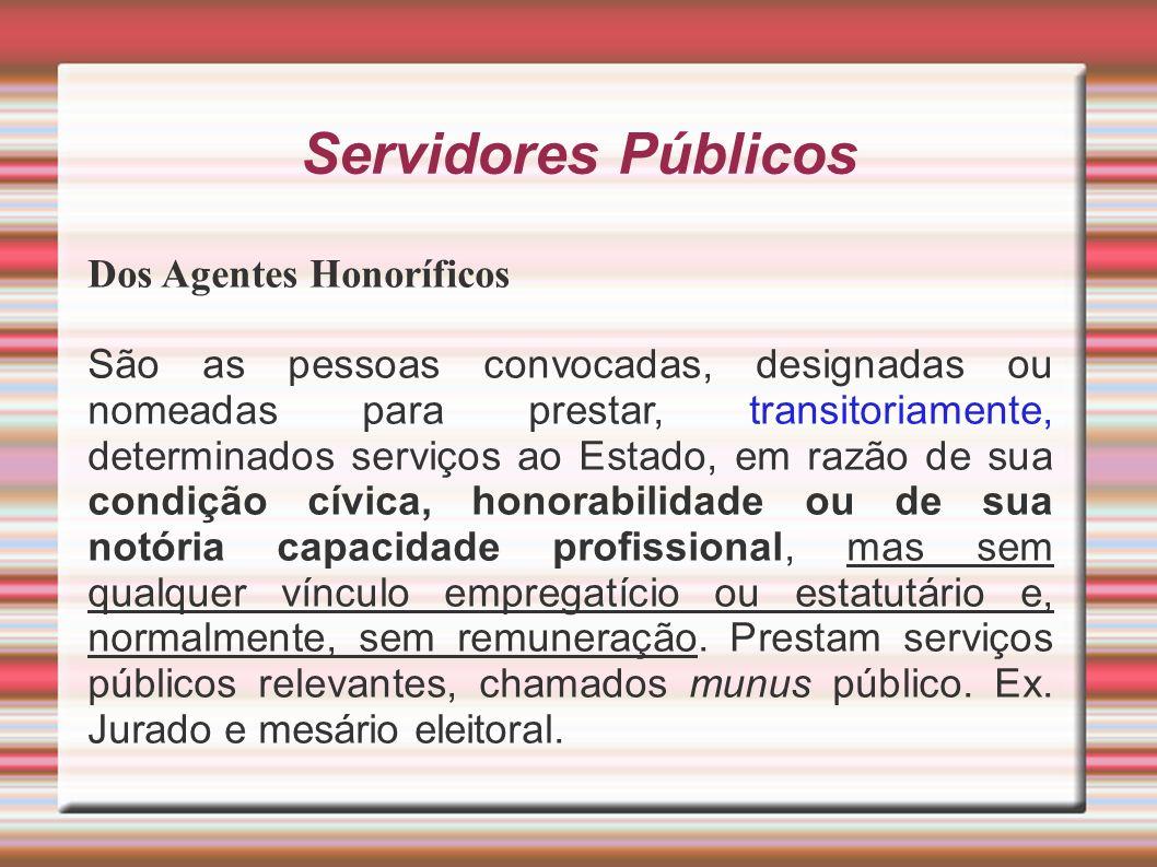 Servidores Públicos Dos Agentes Honoríficos