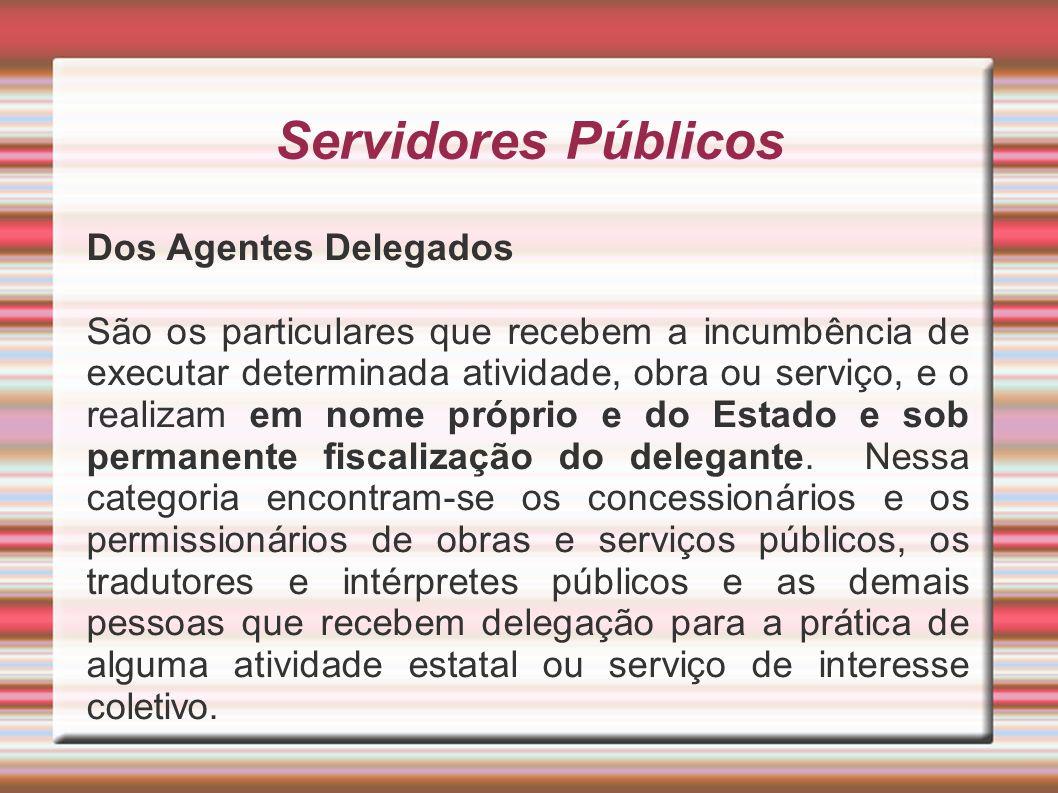 Servidores Públicos Dos Agentes Delegados