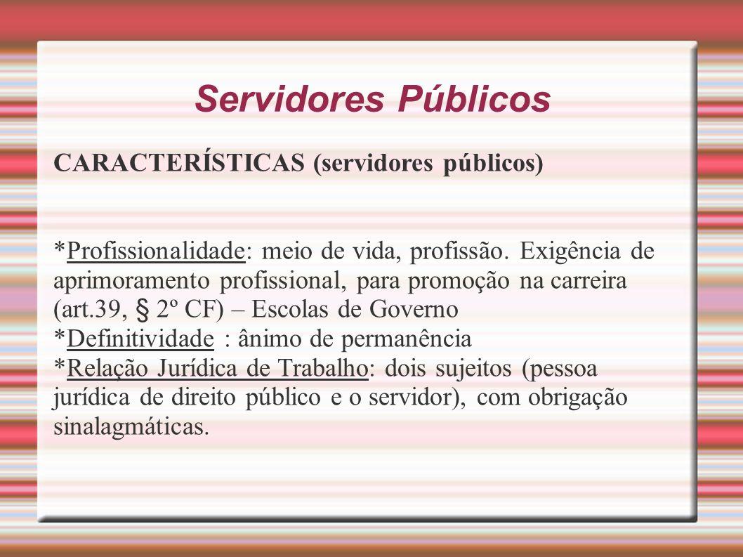 Servidores Públicos CARACTERÍSTICAS (servidores públicos)