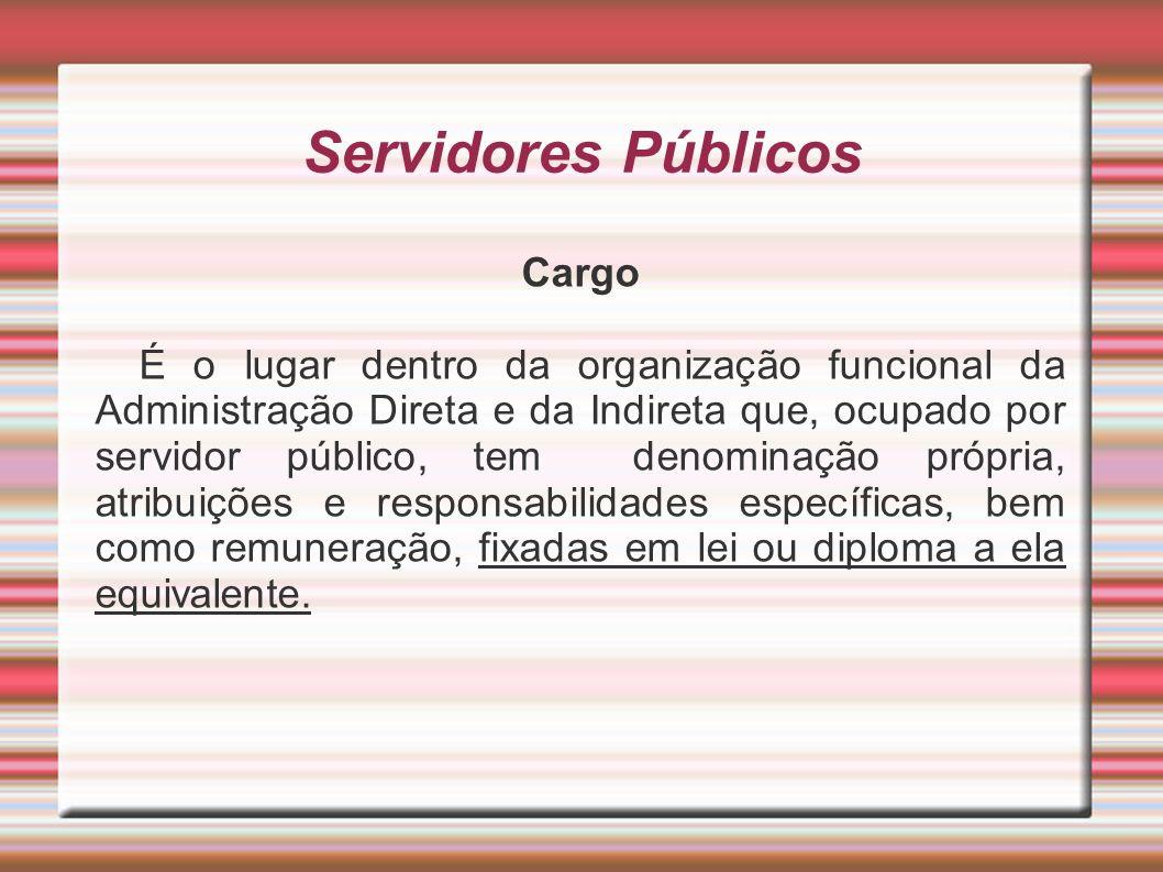 Servidores Públicos Cargo